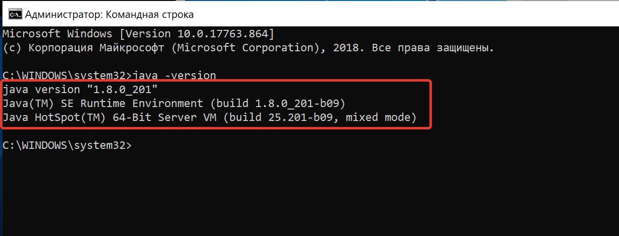 Версия Java